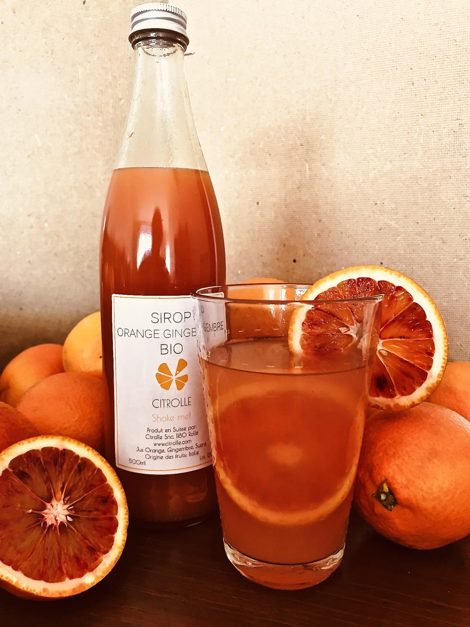 Sirop Orange Gingembre BIO
